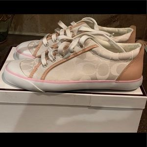 Coach Sneakers Cream and Pink New w/o tags